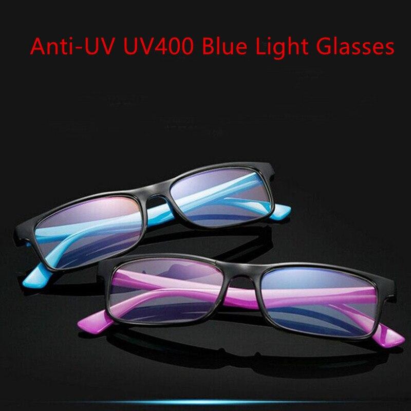 1PC Anti-UV UV400 Blue Light Glasses Anti Blue Rays Radiation Blocking Glasses Men Women Computer Goggles Flat Mirror Eyeglasses