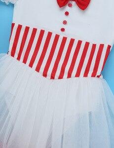 Image 5 - Śliczne dzieci dziewczyny boże narodzenie kostium taneczny koronki rękawy Puff łyżwiarstwo figurowe jazda na rolkach Baton Twirling Mesh trykot sukienka