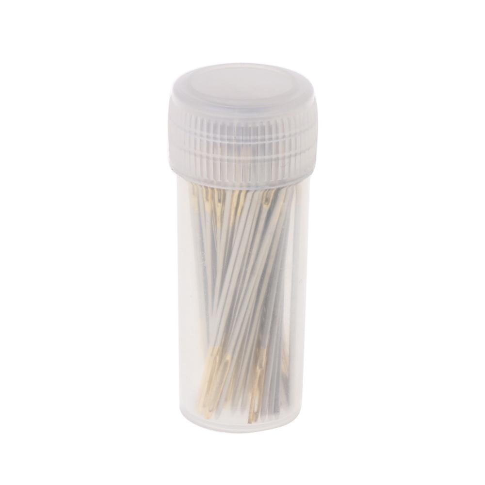 100 PCS Tail Embroidery Fabric Cross Stitch Needles Craft Tools Size 26 For 14CT