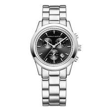купить Men Watch Top Brand Luxury Date Calendar Display Men Quartz Watch Black Men Stainless Steel Watches Waterproof Relogio Masculino дешево