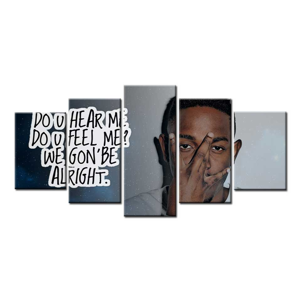 Kendrick Lamar Rap Album Cover Hip Hop Art Poster Canvas Painting wall art Modular Pictures Posters and Prints Home Decor image