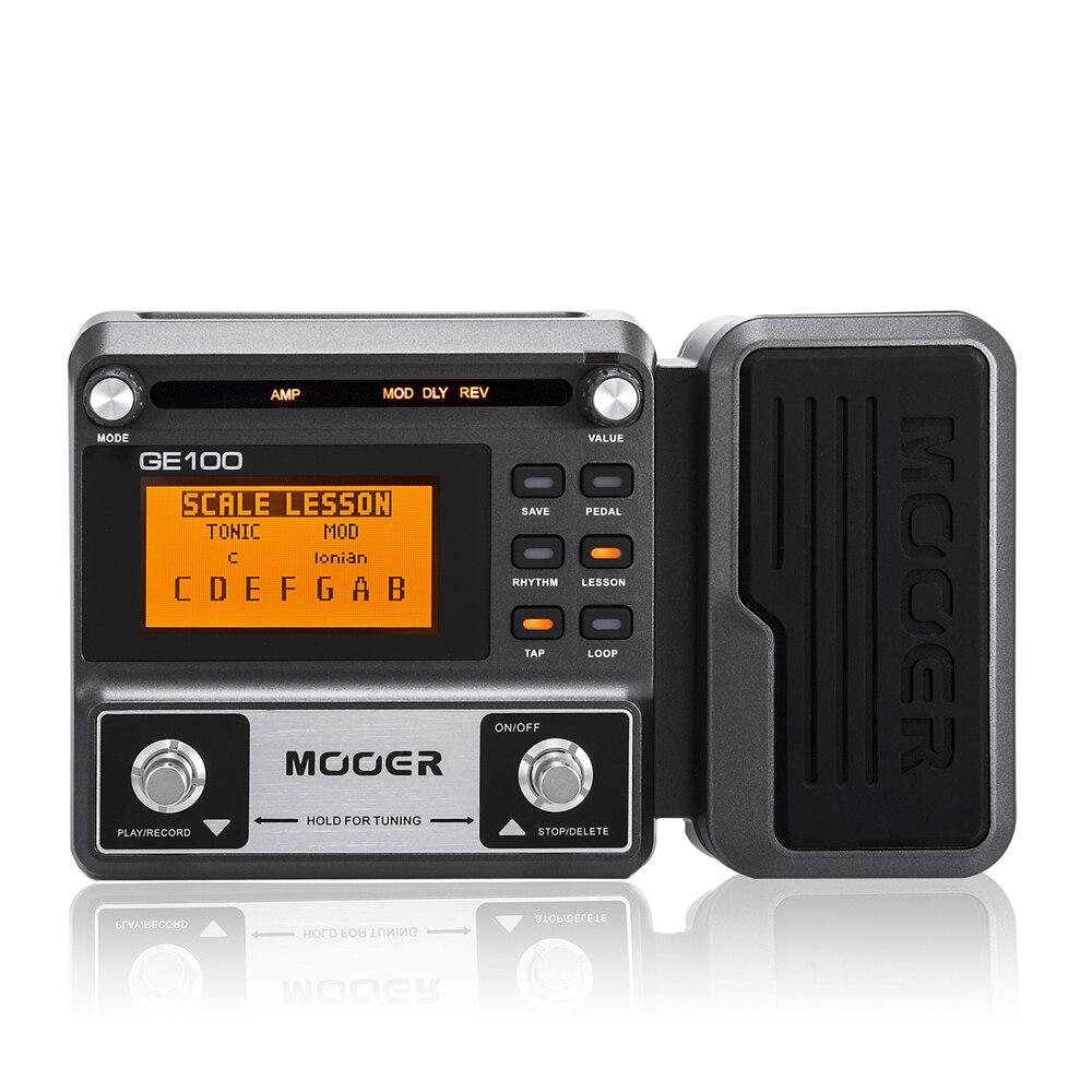Pedal de efecto de procesador de múltiples efectos MOOER GE100 con grabación en bucle (180 s), amplificador de Pedal de guitarra MOOER GE150 (80 s)
