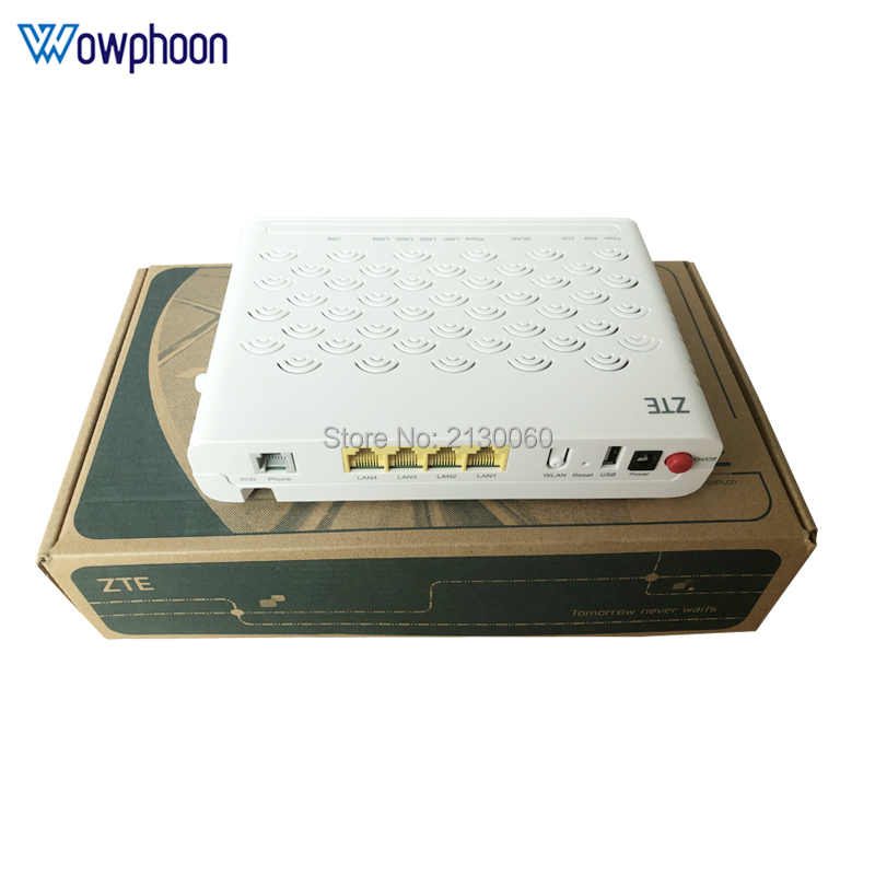 100% Original And New ZTE F660 GPON ONT 5.0 Version 4FE+1TEL+1USB+WIFI English Firmware Optical Network Terminal, Free Shipping