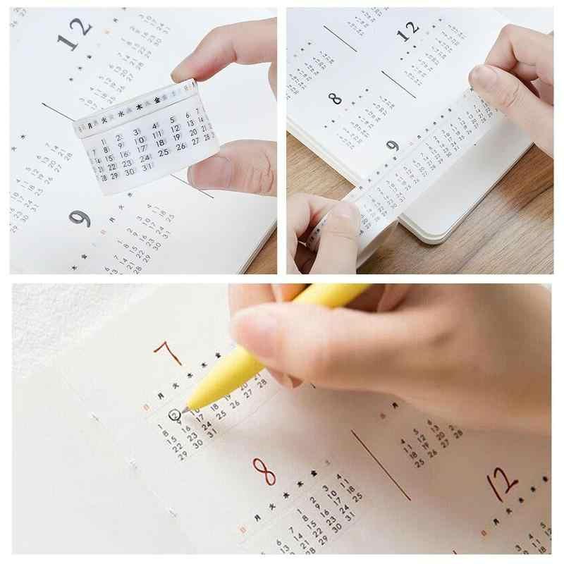 毎月毎週日付カレンダー和紙テープ実用手プランナー涙文房具テープクリエイティブスクラップブッキング日付マスキングテープ V0S1