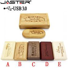 JASTER USB 3,0 high speed Holz usb-Stick 4gb 16gb 32gb 64gb-Stick Geschenke speicher stick U Disk 1PCS freies individuelles logo