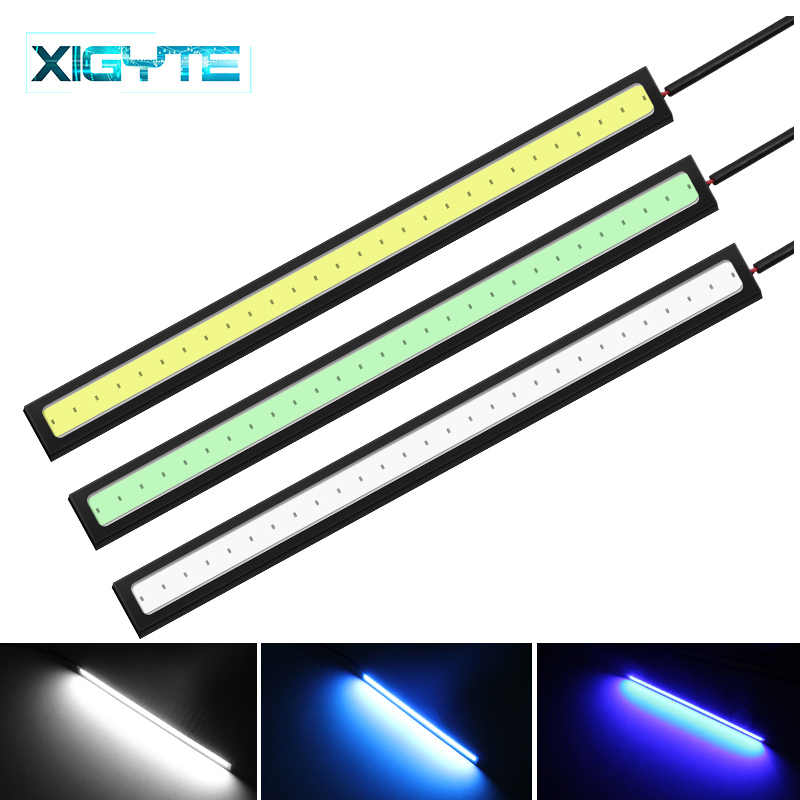 Luces de circulación diurna LED Ultra brillantes, de moda, cc 12V 17cm, luz exterior de coche DRL COB, Luz antiniebla de conducción, estilismo para coche