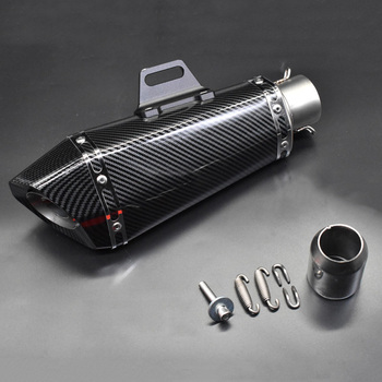 51mm Motorcycle exhaust pipe muffler for yoshimura exhaust Escape moto with silencer DB killer for Z900 MT09 KTM390 R6 FZ8 zx6r 570mm 480mm 380mm universal motorcycle akrapovic exhaust muffler z900 r3 tmax530 cbr300 tnt250 bn300 hexagonal escape silencer