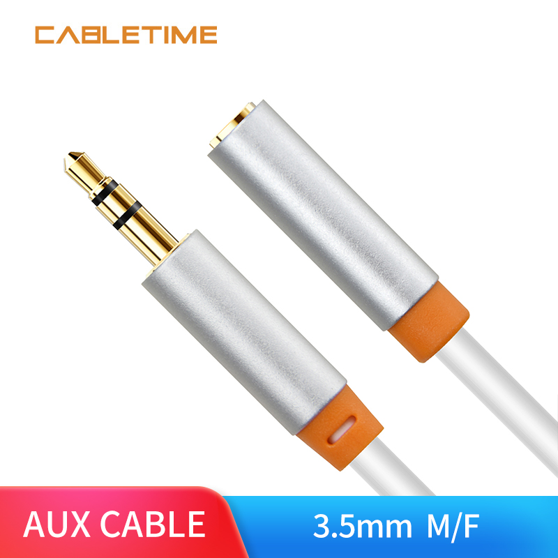 Cabletime 3.5 mm Jack Aux Extension Cable Headphone Audio Cable Male to Female for iPhone 6 6s Xiaomi Huawei P20 Amplifier N141 image