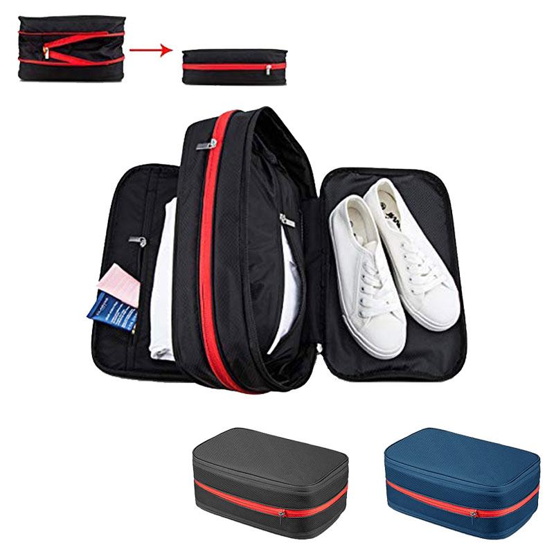 Waterproof Men Women Nylon Travel Bags Hand Luggage Large Capacity Travel Bag Compression Packing Cubes Travel Luggage Organizer