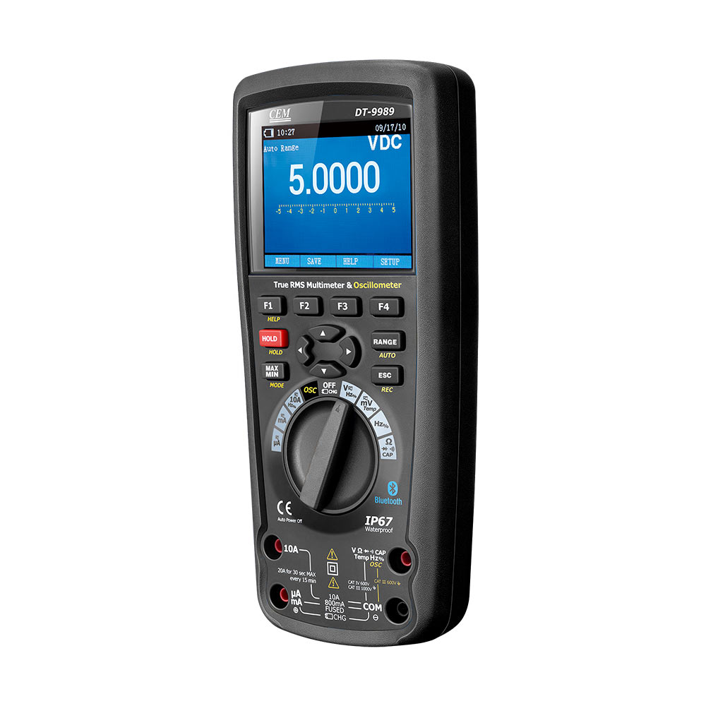 CEM DT-9989 0.025% DCV Accuracy Real-time sample rate Fully PC Calibration handheld scopemeter oscilloscope digital multimeter image