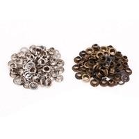 100x silber und bronze öse + werkzeug set für 4mm leder Handwerkzeug-Sets    -
