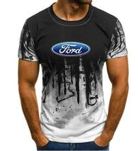 Ford Mustang T-shirt Männer Farbverlauf Kurzarm Bullige Muscle Grund Feste Bluse Shirt Top Casual Lustige t-shirt Sommer JYF(China)