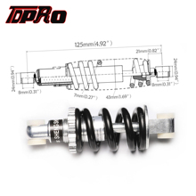 цены TDPRO 125mm 750LBS Rear Shock Shock Absorber Damper Suspension Spring For Bicycle Go Kart Pocket Bike Mini ATV Quad Dirt Scooter