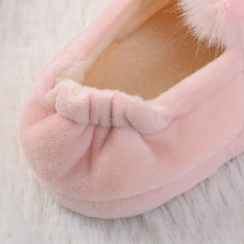 H3300dd60985a45ba8d4a43c6ab6baaacF Sapatos para crianças de algodão, sapatos para crianças meninos e meninas de outono, chinelos fofos com orelhas de coelho, espessamento de bola, sapatos internos