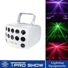 Lumière sonore à distance DMX RGBW LED Laser stroboscope Disco DJ faisceau Spot éclairage de scène effet danse Club mariage papillon lumière