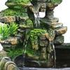 Resin Crafts Tabletop Feng Shui Decor Rockery Landscape Water Fountains Home Decoration Indoor Fountain Zen Garden 4