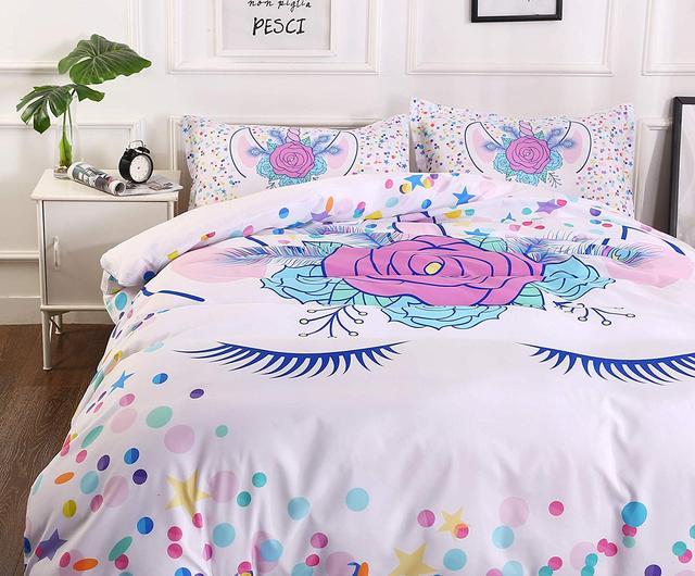 3D Unicorn Printed Bedding Sets 5