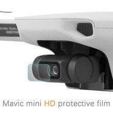 Protetor de lente de câmera para drone dji mavic mini, 2 peças anti risco e hd, lente de vidro temperado kit de acessórios de proteção de filme