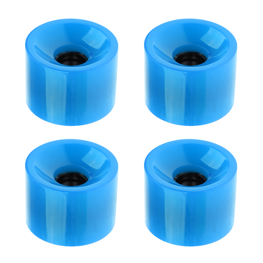 4pcs 70 X 51mm Durable Pro Blank Skateboard PU Wheels Longboard Mini Cruiser Wheels