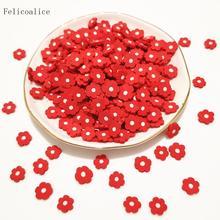 20 г красные цветы Полимерная глина посыпает пластик klei крошечные частицы цветочной грязи сливы Fimo для Шейкер карт