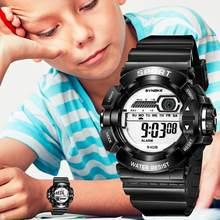 SYNOKE Kinder LED Digital Uhren Kid G Wasserdichte Schock Wecker Multifunktions Gummi Strap Kinder Sport Uhr geschenk Relogio