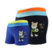 Летние детские плавки; детские купальные костюмы; купальные костюмы для мальчиков; плавки; короткие трусы-боксеры; купальная одежда с рисунком медведя из мультфильма