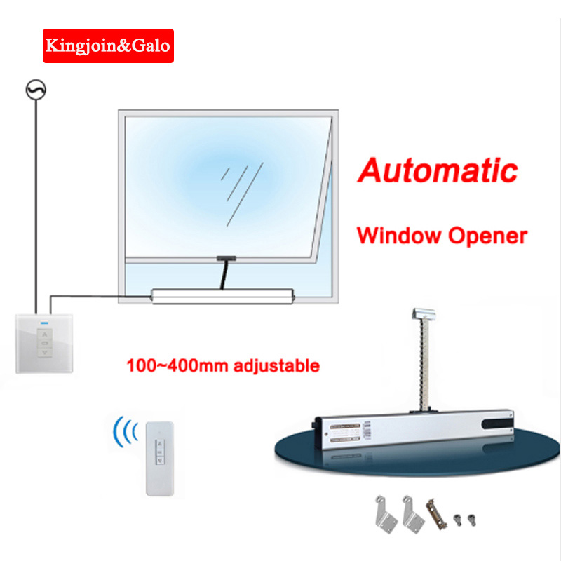 Newest Adjustable Length 100~400mm Chain Automatic Window Opener With Remote And Controller DC24v Smart Home Window System Auto