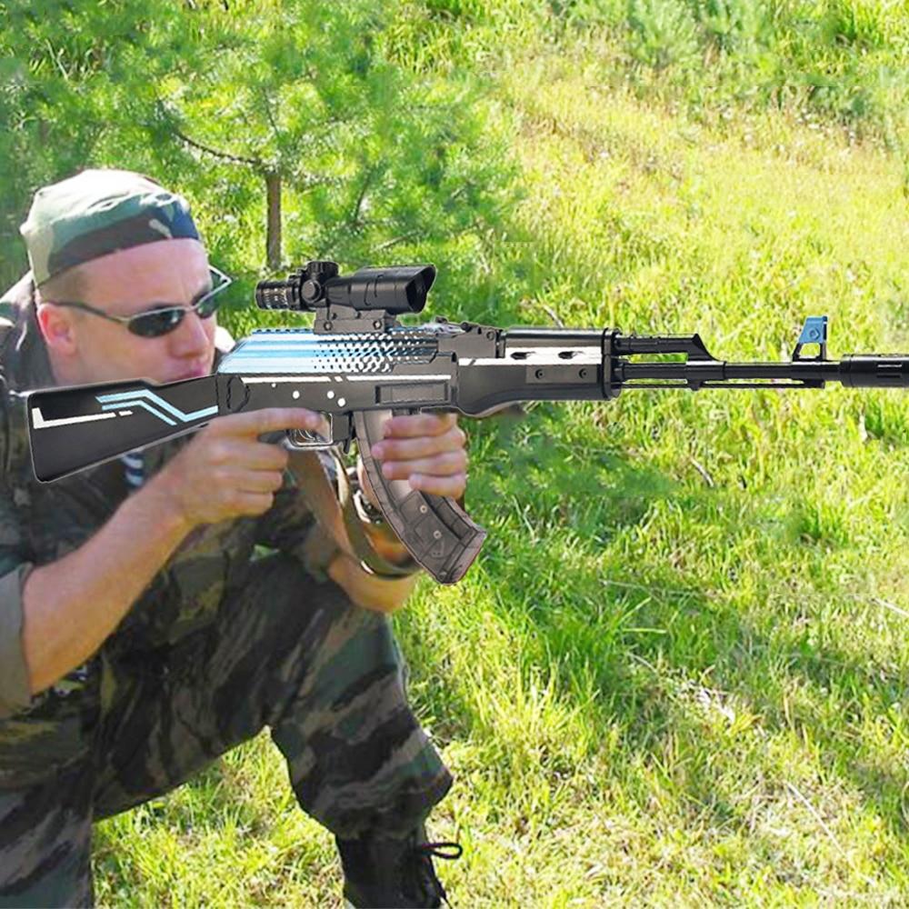 Plastic AKM AK 47 Toy Gun Assembly Pistol Weapon Air Gun Model Can Shoot 7-8mm Water Gel Ball Water Beads Outdoor Toy Child Safe