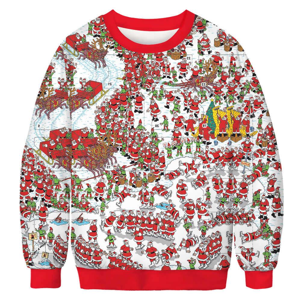 BombFun Weihnachten Sweatshirts Lustige Frauen 3d Print Rollkragen Harajuku Pullover Trainingsanzüge Paare Hohe Qualität Männer Sweatshirts