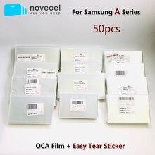 50Pcs 250um Für Samsung A10 20 30 40 50 2019 A70 80 M10 M20 M30 M40 OCA Kleber Optische claear Adhesive Film Und Leicht Reißen Aufkleber