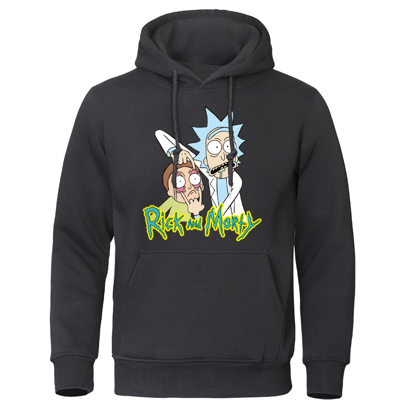 2019 Autumn Rick And Morty Sweatshirts Men Funny TV Show Top Cartoons Anime Hip Hop Hoodies Male Tracksuit High Quality Pullover