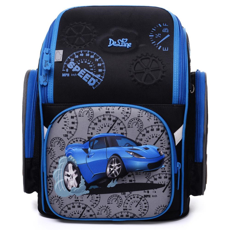 Factory Famous Brand Delune Kids Primary School Backpack Children 3D Cars Schoolbag Boys Girls Waterproof Orthopedic School Bags