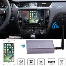 Carro sem fio wi fi display dongle adaptador de vídeo do carro gps navegação tela espelhamento para iphone x 6 7 8 plus android telefone almofada tv