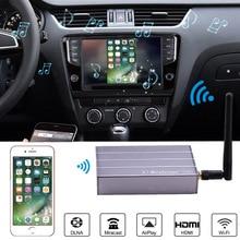 Samochodowy bezprzewodowy wyświetlacz WiFi Dongle Adapter wideo samochodowy ekran nawigacji GPS Mirroring dla iPhone X 6 7 8 Plus Android telefon Pad TV