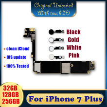 100% Original unlocked for iPhone 7 plus Motherboard with / without Touch ID,for iPhone 7P Mainboard with Chips,32gb/128gb/256gb oudini original unlocked working for nokia lumia 1020 motherboard 32gb 100% test free shipping