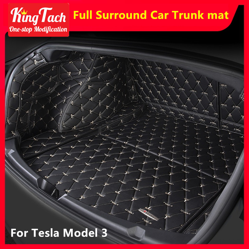 Car Trunk Mat For Tesla Model 3 Full Sound High Quality Leather Front Trunk Mat Rear Trunk Mat modified interior accessories