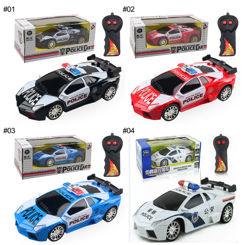 1:24 Model Electric Police RC Cars 2 channels Remote Control Car Toys for Boys Racing Car with Light boy Gift Kids|RC Cars| |  -