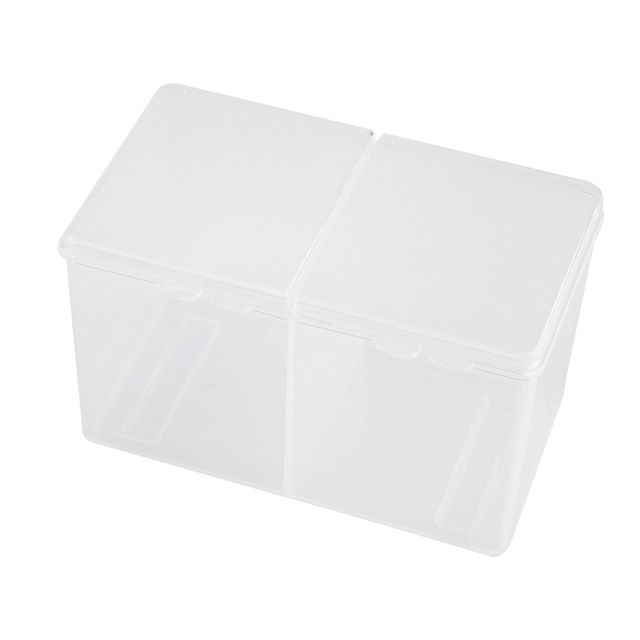 Hot Sale Clear Cotton Swab Organizer Holder Cotton Pad Storage Box Transparent Remover Paper Makeup Desktop Tool Jewelry Case Co