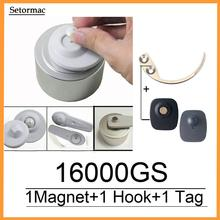 마그네틱 Detacher 16000GS 헝겊 보안 태그 리무버 체크 포인트 시스템 RF8.2Mhz 호환 + 1 키 후크 Detacher + 1 알람 센서