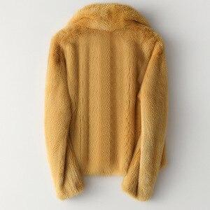 Image 4 - Inverno Pieno Pelt Reale del Visone del Cappotto di Pelliccia di Modo Delle Donne Breve Pelliccia di Visone Giubbotti di Lusso di Alta Qualità Caldo di Spessore Naturale Sottile outwear
