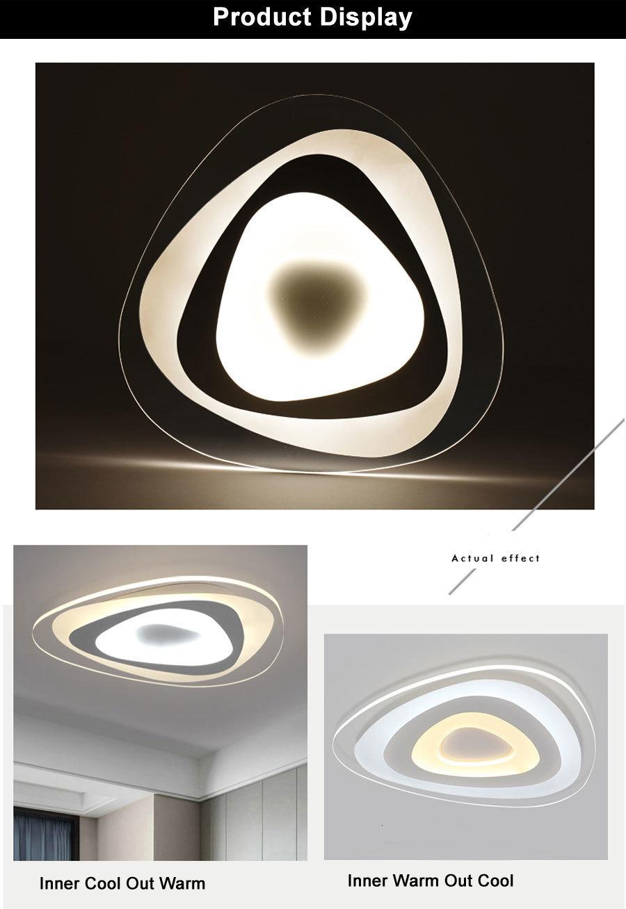 H3302e80edd734abfbabd5795022d58804 Ultrathin Triangle Ceiling Lights lamps for living room bedroom lustres de sala home Dec LED Chandelier ceiling