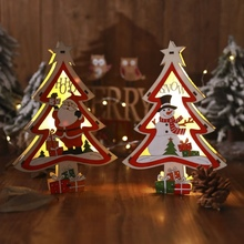 LED Lights Ornament Glowing Christmas Tree Decoration For Home Hanging Pendant Festive Party Supplies