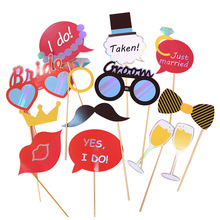Pthotbooth-Props Party-Decoration Bachelor Bride Wedding Just Married Party-Supplies