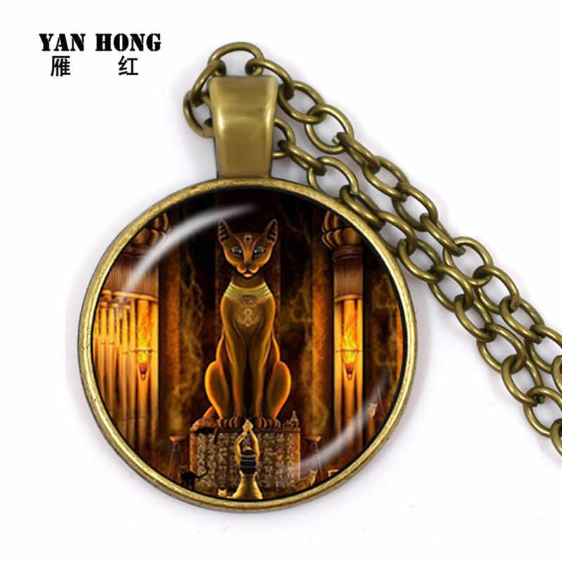Ai Cập Cổ Đại Mèo Nữ Thần Tượng Cổ Ai Cập Chúa Mặt Dây Chuyền Vòng Tay Kính Vòng Cổ Nữ Trang Sức Bùa Hộ Mệnh Phụ Kiện