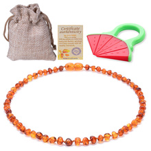 Baltic Amber Baby Teething Necklace for Adult Highest Quality Polishing