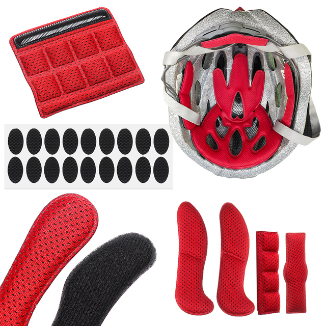 27pcs//set Helmet Padding Kits Sealed Sponge Replacement Motor Bicycle Cycling