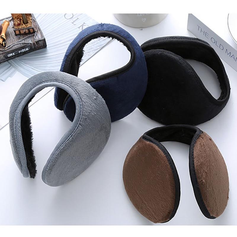 Winter Earmuff Apparel Accessories Hot Sale  Earmuff Autumn Ear Muff Wrap Band Ear  Dark Solid Color Unisex Warmer Earlap