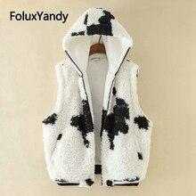 2019 new vest women plus size 3XL 4XL 5XL warm hooded winter sweater KKFY4025