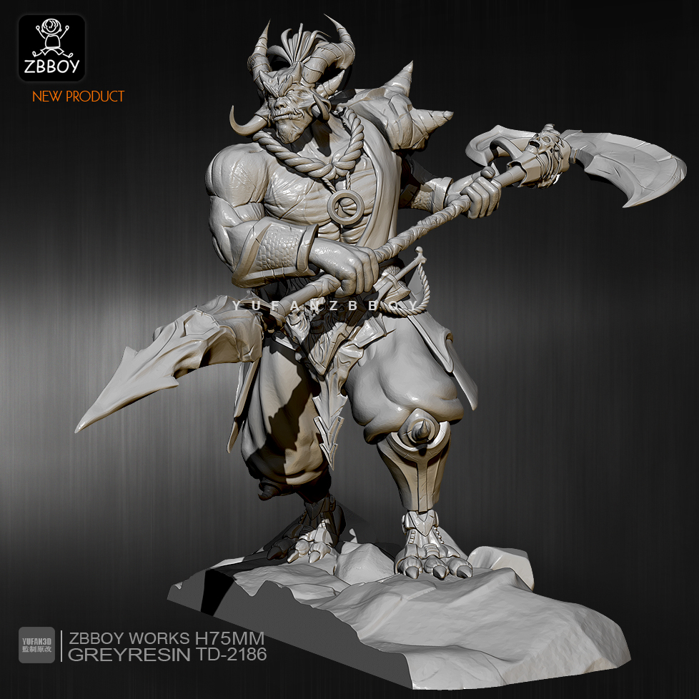 75mm Resin Figure Kits Sickle Monster Resin Model Self-assembled TD-2186