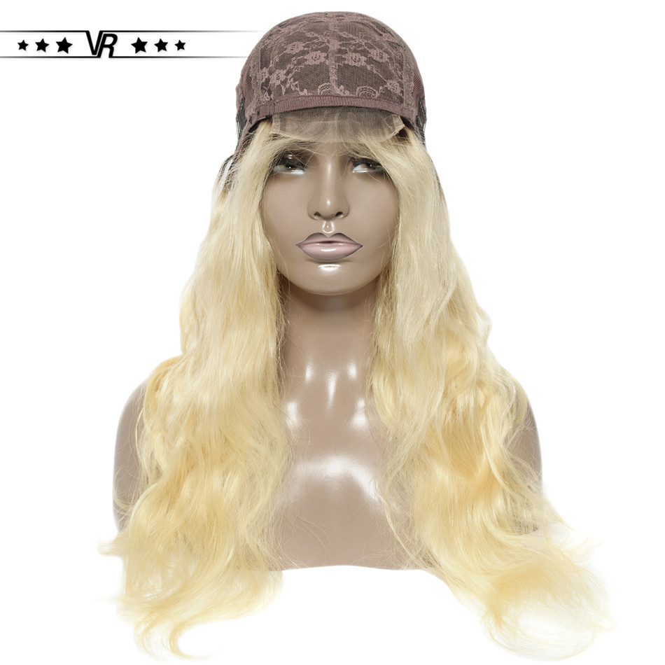 VR Star Quality Blonde Lace Front Wig  4*4 #613 Body Wave  Human Hair Wig For Black Women